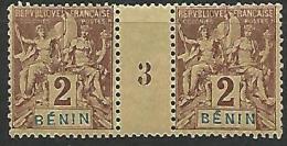 BENIN N�  34 MILLESIME 3  NEUF** SANS CHARNIERE / 2SCANS / COTE 135�