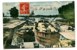 CPA  84   :   SORGUES   Le Port  Avec Péniches   1907     VOIR  DESCRIPTIF   §§§§ - Sorgues