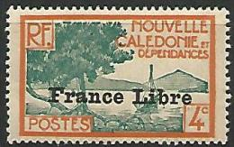 NOUVELLE-CALEDONIE N� 198 FRANCE LIBRE NEUF** LUXE / SANS CHARNIERE