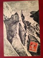 FM 10c Semeuse Lignée Sur Cpa Ascension De La Meije Escalade D'une Crevasse - Franchise Militaire (timbres)