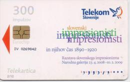 SLOVENIA PHONECARDS PAINTING 2 -10000pcs-7/08-USED - Slovénie