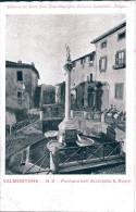 LAZIO-ROMA-VALMONTONE VEDUTA PIAZZA E FONTANA ARCHITETTO A.BUSIRI - Italia