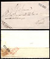 Muro (Lucano)-00512a - Piego Senza Testo Del 12 Gennaio 1819 -  Bollo Riipetuto Al Verso Come Suggello (Punti 6+8) - Italia