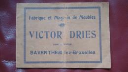 Catalogue meubles vers 1900 Saventhem lez-Bruxelles - Victor Dries - Art nouveau