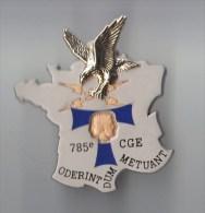 INSIGNE 785� COMPAGNIE DE GUERRE ELECTRONIQUE, T bleu nuit - BMB TRADITIONS G 4131