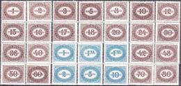 AUSTRIA ÖSTERREICH 1947 NEUE ZIFFERNZEICHNUNG IM OVAL MNH / ** / POSTFRISCH - Strafport
