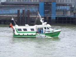 boulogne sur mer -le port -chalutier-l'epervier-BL5 62367-photo cpm