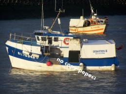 boulogne sur mer -le port -chalutier-sebastienIII-- BL753485-photo cpm