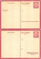 Entier BELGIQUE OCCUPATION 1939-1945 BRUXELLES - Carte Réponse Payée 15pf+15pf Hindenburg Neuf - Besetzungen 1938-45