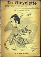 Du 22 Mars 1895 - (120 Ans D'âge) - LA BICYCLETTE - S.M. Le Roi De Serbie - Opinion Sur Pub - G.A. Clément -Dictons Et P - Sport