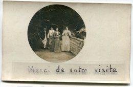 -  Carte Photo - à Jonchéry, En 1904, Belles Dames Sur Terrasse, Ombrelles, Non Voyagé, TBE, Scans. - France