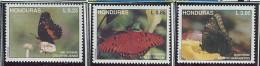 (cl 30 - P34) Honduras** N° 287 à 289 - Papillons - - Honduras