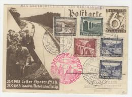 Deutsches Reich Ganzsache P 263 gebraucht + ZF No. 634 , 637 , 639 , 641 y / Zeppelin LZ 129 Nordamerika