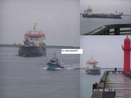 boulogne sur mer -sortie de port -drague strandway-3 vues-photo