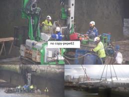 boulogne sur mer -le port -travaux pont marguet--3 vues-photo