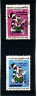 """Madagascar 1998-1999  ( 2 valeurs surcharg�es 40 et 60FG s/""""10�Jeux Oc�an Indien"""")    TRES RARES"""