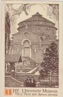Cpa,1924,états Unis,he University Museum,the Philadelphia Art Alliance,thornton Oakley,timbre - Philadelphia