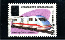 "Madagascar 1998-1999  ( ""   Express Siemens ""   surcharg�  500 Fmg )    TRES RARE"