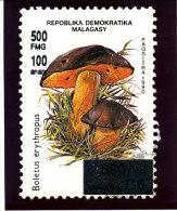 "Madagascar 1998-1999  ( ""   Champignon  Bolet ""   surcharg�  500 Fmg )    TRES RARE"