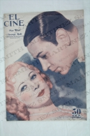 1934 Movie/ Cinema Actors Magazine - Mae West, George Raft, Carole Lombard, Clark Gable, Paulette Dubot, Jean Harlow... - Revistas