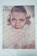 1934 Movie Actors Magazine - Ruby Keeler, Cary Grant, Jean Parker, Toby Wing, Sylvia Sidney, Gary Cooper, Myrna Loy... - Revistas