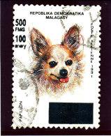 "Madagascar 1998-1999  ( ""   Chien Papillon ""   surcharg�  500 Fmg )    TRES RARE"