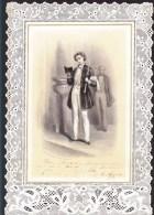 Grande Image Pieuse - Souvenir De 1ere Communion - église De Derval - Juin 1886 - Litho Alphonse Saintin - Imágenes Religiosas