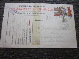 FM 48e Rég Infanterie 8e Compagnie SP 74  Prisonnier Croix-Rouge Genève- Carte Franchise Militaire Correspondance Armées - Marcophilie (Lettres)