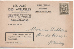 Nr.  3606,  Postkarte Belgien, Marke Mit Überdruck - Belgio