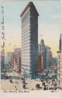 Cpa,old ,états Unis,the FLATIRON,new York,fuller Building,gratte Ciel De Manhattan Construit En 1902,spider Man,rare - Non Classés