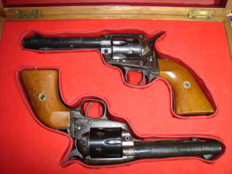 SAA 1873 Revolvers Alarme En Coffret - Militaria
