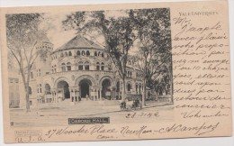 Cpa,états Unis D´amérique,connecticut,ne W Haven,YALE UNIVERSITY EN 1902,osborn Hall,ivy League,abraham Pierson,rare - New Haven