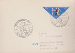 Sport 353) DDR Mi# 1045 (EF) Pioniertreffen; Oberhof (Thür.) 27.2.66 Kurort Der Werktätigen, Für Frieden Und Sozialismus - Inverno