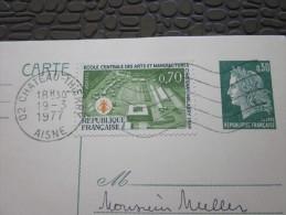 Entiers Postaux Type  Marianne Müller+timbre Ajouté école Centrale Arts Manufacture Château-Thierry>Nogent L'artaud 1 - Entiers Postaux