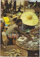AFRIQUE,AFRIKA,AFRICA,Sén égal,vendeuse De Poisson,poissons,métier,m Archande,vendeuse,marché, Panier - Sénégal