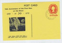 New Zealand SPACE MAN ON MOON FDC POSTAL CARD 1979 - FDC & Gelegenheidsboekjes
