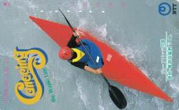 Japan, 371-050 B, Canoeing The Wajiki Line, Sport, 2 Scans. - Giappone