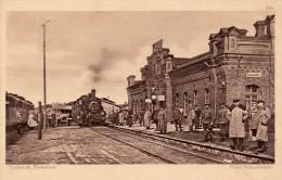POLAND / RUSSIA : SUWALKI BAHNHOF / GARE / TRAIN STATION - FELD POSTKARTE : KRIEG 1914 / 15 - RUSSLAND (r-350)