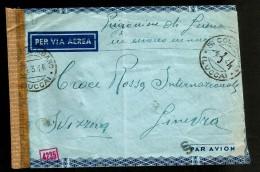 PROGIONIERI DI GUERRA Storia Postale  Lettera Vg Da S. Colombano Lucca  Per Ginevra - 1900-44 Vittorio Emanuele III