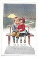 11466 - Ein Süsses Geständnis Confidence Couple Enfants Signé A.K - Couples