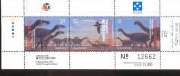 MICRONESIA   199  MINT NEVER HINGED MINI SHEET OF DINOSAURS PHILAKOREA 1994 (  LIMITED ADDITION  25000 - Prehistorics