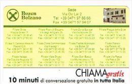 CHIAMAGRATIS - CASSA RURALE, BOLZANO (RAIFFEISENKASSE, BOZEN)  -   TIR. 5000      -  MINT   (RIF.CP) - Italia