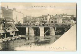 MARANS : La Passerelle Animée - TBE - Edit. E.O. - 2 Scans - France