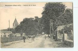 MONTENDRE : Avenue De La Gare Animée - TBE - Edit. Gautrat - 2 Scans - Montendre