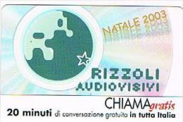 CHIAMAGRATIS - RIZZOLI AUDIOVISIVI: NATALE 2003     -   TIR. 6000      -  MINT   (RIF.CP) - Italia