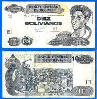 Bolivie 10 Bolivianos 1986 Uniquement Prix + Frais De Port South America Paypal Skrill OK - Bolivia