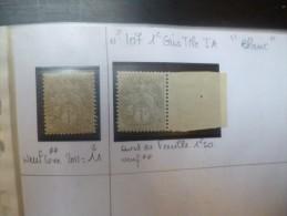 FRANCE DU N�107 � 136(1900-1910) NEUF**/OBL.+COURRIERS/DOC UMENTS. SPLENDIDE ETUDE !!!