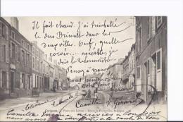 1 Cpa. Carignan. Poste Aux Lettres. Route De Florenville. Landau. Charrette. Animation - France
