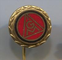 IGM Metalworkers Union - Frankfurt  Germany, vintage pin  badge, enamel
