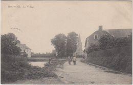 24371g  CHARRETTE à BRAS - ENTREE Du VILLAGE -  EGLISE - Hognoul - Awans